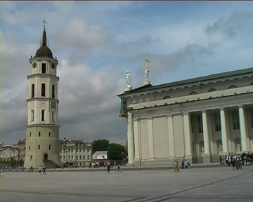 Kathedrale von Vilnius mit Glockenturm