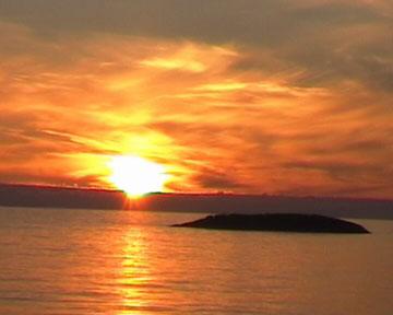 Sonnenuntergang bei Olden